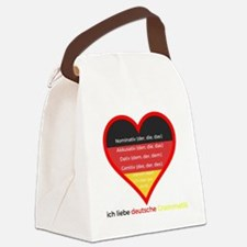 Funny Deutsch Canvas Lunch Bag