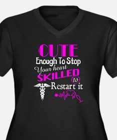 Cute Enough To Stop Your Heart S Plus Size T-Shirt