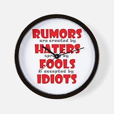 rumors Wall Clock