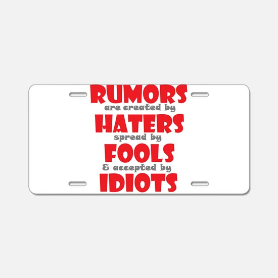 rumors Aluminum License Plate