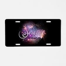 Science Nebula Aluminum License Plate