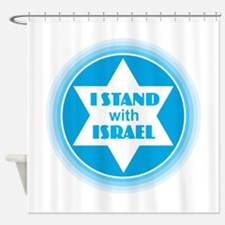 I Stand with Israel Shower Curtain