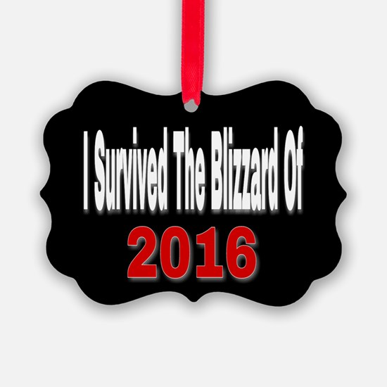 I Survived The Blizzard Of 2016 Ornament