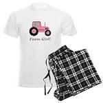 Farm Girl Tractor Men's Light Pajamas