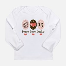 Peace Love Lucky 13 Long Sleeve T-Shirt