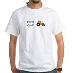 Farm Girl Tractor White T-Shirt