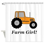 Farm Girl Tractor Shower Curtain