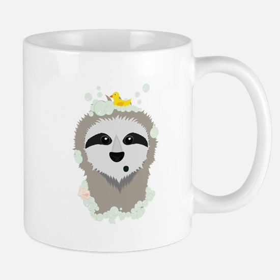 Sloth in bubbles Mugs