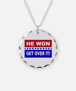 He Won Get Over It! Necklace Circle Charm