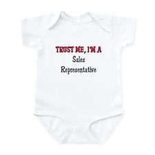 Trust Me I'm a Sales Representative Infant Bodysui