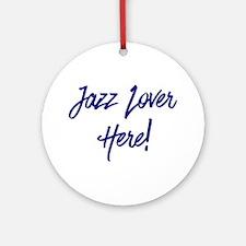 Jazz Lover Round Ornament