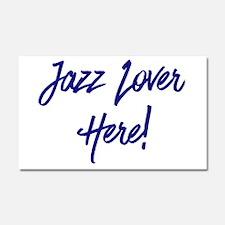 Jazz Lover Car Magnet 20 x 12