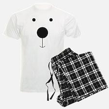 Minimalist Polar Bear Face Pajamas