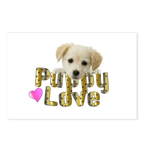 Puppy Love Postcards (Package of 8)