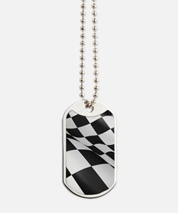 Chequered Flag Dog Tags