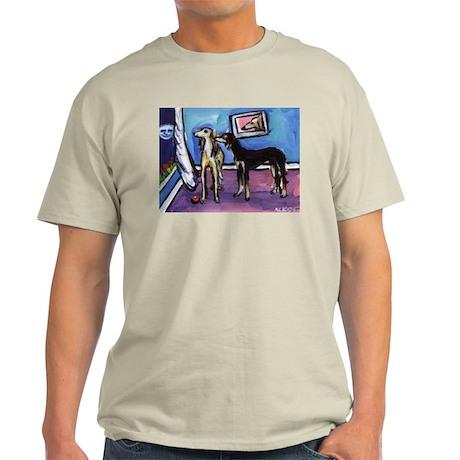 SALUKI pair sees moon Ash Grey T-Shirt