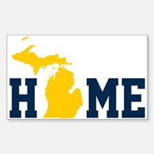 Cute Up north michigan Sticker (Rectangle)