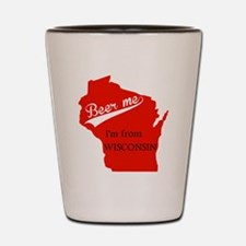 Funny Green bay wisconsin Shot Glass