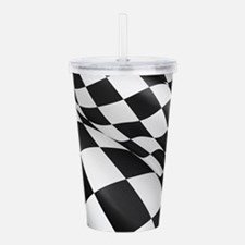 Chequered Flag Acrylic Double-wall Tumbler