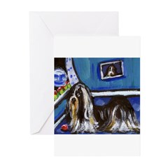 SHIH TZU whimsical art! Greeting Cards (Package of