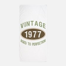 Vintage 1977 Birthday Beach Towel