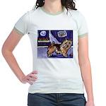 NORWICH TERRIER art Jr. Ringer T-Shirt