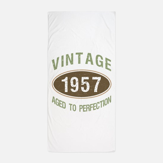 Vintage 1957 Birthday Beach Towel