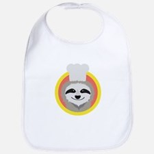 Sloth cook with hat Baby Bib