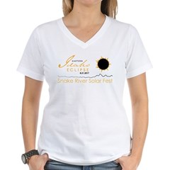 Women's White V-Neck T-Shirt