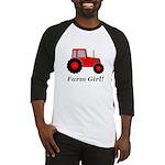 Farm Girl Tractor Baseball Jersey