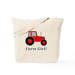 Farm Girl Tractor Tote Bag