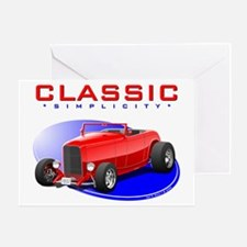 Classic Hot Rod Card Greeting Cards