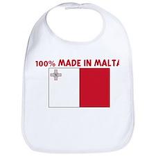 100 PERCENT MADE IN MALTA Bib