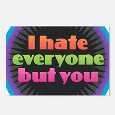 I Hate Everyone But You Postcards (Package of 8)