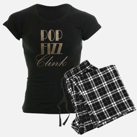 champagne pop fizz clink Pajamas