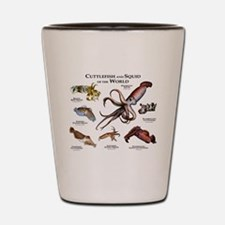 Cuttlefish & Squid of the World Shot Glass