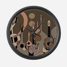 Cute Mandolin Large Wall Clock