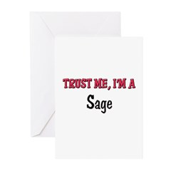 Trust Me I'm a Sage Greeting Cards (Pk of 10)