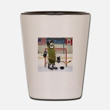 Hockey Pickle Shot Glass