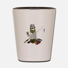 Fishing Pickle Shot Glass