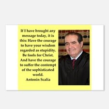 Antonin Scalia quote Postcards (Package of 8)