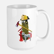 Fire Fighter Pickle Mugs