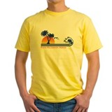 Playa del carmen Mens Classic Yellow T-Shirts
