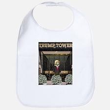Trump Tower Pickle Baby Bib