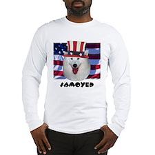 Samoyed RED WOOF & BLUE Long Sleeve T-Shirt