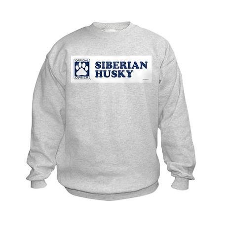 SIBERIAN HUSKY Kids Sweatshirt