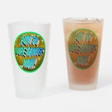 Run To Cure Cancer Now! Drinking Glass