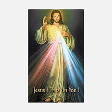 Unique Jesus christ Sticker (Rectangle)
