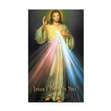 """Divine mercy jesus 3"""" x 5"""""""
