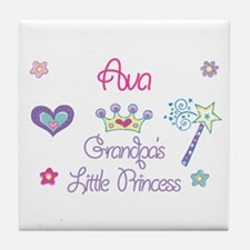 Ava - Grandpa's Little Prince Tile Coaster